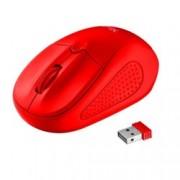 Мишка TRUST Primo 22138, оптична(1600 dpi), безжична, USB, червена, до 8м обхват