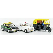 Jack Royal Toy VIP Car,City Taxi & Auto (Pull Back Toy)-Set of 3
