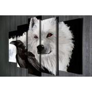 Tablou CANVAS 5 piese Wolf