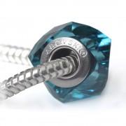Helix - Talisman pentru bratari din Cristale Swarovski - Indicolite