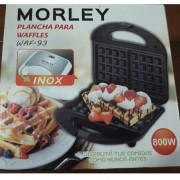 Wafflera Electrica Morley Con Antiadherente Corte Automatico