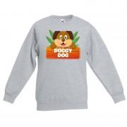 Shoppartners Sweater grijs voor kinderen met Doggy Dog de hond