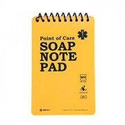 """5-Pack Full Waterproof Medical Point of Care SOAP Note Notepad 6"""" x 3-3/4"""" MRI Safe Disinfectable Version na1.02"""