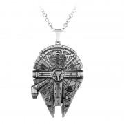 Pandantiv Medalion Lantisor Star Wars Space Ship Silver