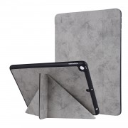 PU Leather Stand Tablet Case Shell with Pen Slot for iPad 10.2 (2019) - Grey