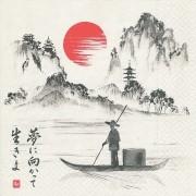 Geen 20x Japan thema servetten 33 x 33 cm