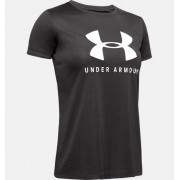 Under Armour Girls' UA Tech™ Big Logo Short Sleeve Gray YSM