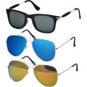Freny Exim Aviator Sunglasses(Yellow, Blue, Grey)