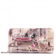 Y Not? Portafoglio Donna Y NOT L-361 Pink Rome - Chiusura Zip Around