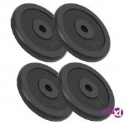 vidaXL Ploče za utege od lijevanog željeza 4 kom 30 kg