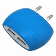 creativo oval en forma de cargador de enchufe de 5V 2.1A EU para PC / IPHONE X / 7/8 / MP3 - 100-240V