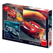 PUZZLE 3 IN 1 - CARS 3: CURSA CEA MARE (55 PIESE) - DINO TOYS (335240)