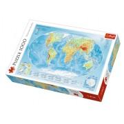 Trefl Puzzle Slagalica Physical map of the world 1000 kom (10463)