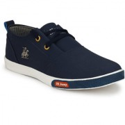 Krasiva Men's Navy Blue Synthetic Casual Sneakers