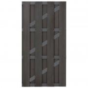 C-Wood Tuindeur composiet Bari antraciet met aluminium-antraciet frame (100 x 180 cm) incl. hang-en sluitwerk