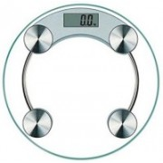 wewholeseller Personal Health Human Body Weight Machine X2003A 8mm Round Glass Weighing Scale Weighing Scale(Transparent)