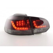 FK-Automotive luci posteriori LED VW Golf 6 tipo 1K anno di costr. 2008-2012 rosso/nero