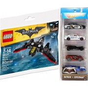 Hot wheels 2017 Batman 5-Pack Batmobile TV Series / Live / Gotham City Police / Joker / Arkham Asylum + DC Comics Lego Batwing