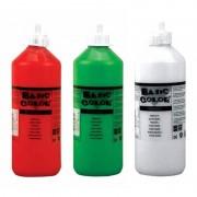Merkloos Voordeel set van 3x kleuren plakkatverf waterbasis van 3x 500 ml