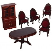 Melissa & Doug Deluxe Doll House Dining Room Furniture, Multi Color