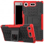 Capa Híbrida Antiderrapante para Sony Xperia XZ1 Compact - Vermelho / Preto