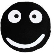 Soft Smiley Emoticon Black Round Cushion Pillow Stuffed Plush Toy Doll (Cute Baby)