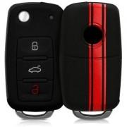 kwmobile Silikon etui dla kluczyk samochodowy dla VW Škoda Seat VW Škoda Seat - czerwony