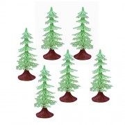 Asian Hobby Crafts Artificial Toy Plastic Project Trees - Pine Tree (6 Pieces, 35-inch)