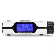 Yosooo Linterna LED Reloj Despertador Digital de Viaje en el Tiempo Mundial TermMetro de Zona horaria mltiple para Exteriores con Pantalla retroiluminada