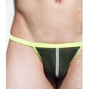 Mategear Hyun Jun Mesh Net Front Slit Mesh Series Xpression Mini G String Swimwear Army Green 1720402