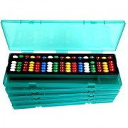Aadithya Corp -17 ROD MultiColour with Pencil Box Abacus kit - Set of 3