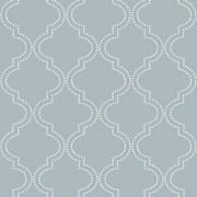 NuWallpaper NU1826 Peel and Stick Wallpaper Slate Blue Quatrefoil