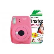 Fuji Instant Camera Instax Mini 9 Flamingo Pink + 1 x 20 shot mini film pack