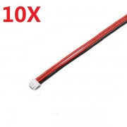 10PCS 2.54XH 22AWG 13CM 2S 3Pin Balance Cable Silicone Wire for Lipo Batteries