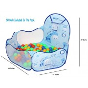 Playhood My Activity Ball Pool (Blue) Play Tent House for Kids with 50 Colorful Balls