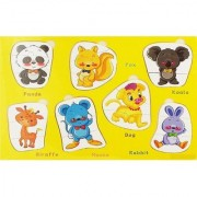 Share Emob Preschool Wooden Educational Animal Jigsaw Puzzle Board Game for Kids and Toddlers (1 Pieces)