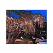 Luces 100 Led Solar Para Jardín Y Eventos (calidas)
