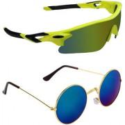 Zyaden Combo of 2 Sunglasses Sport and Round Sunglasses- COMBO 2688