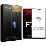 Adoniss [9H] Edge to Edge Premium Tempered Glass Mobile Screen Protector (Pack of 3) for Oppo F7