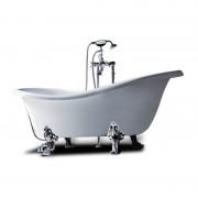 Vasca da bagno con piedini finitura bianco Epoque 170x80 cm in sintetico bianco