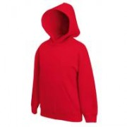 Kids Hooded Sweat Red