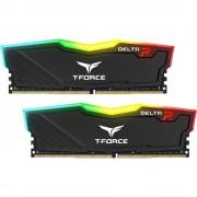 DDR4, KIT 16GB, 2x8GB, 3200MHz, Team Group Elite T-Force Delta RGB Black, 1.35V, CL16 (TF3D416G3200HC16CDC01)
