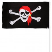 ELECTROPRIME s Flag Jolly Roger Skull & Crossbone Banner Party Decoration 5FT X 3FT