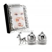 Album foto set bucla dintisor cadou de botez pentru fetita