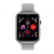 LEMFO LEM10 4G LTE Android Smart Watch Phone 1+16G SIM GPS Mic Buletooth 4.0 - Silver/Silver Nylon