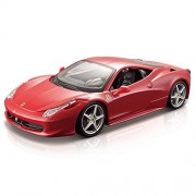 Bburago Ferrari 458 Italia 1:24 Diecast Scale Model Car, 18x7x4.5cm (Red)