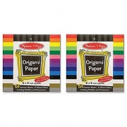 Melissa & Doug Origami Paper (6 x 6 inches) - 51 Pages 2-Pack