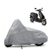 AutoAge Two Wheeler Silver Cover for Hero Electric Bikes Electric Cruz