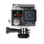 """1080P Wisconsin-Fi 2 """"12MP mini camara impermeable de los deportes con la lente ultra-ancha"""