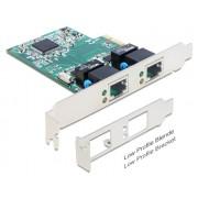 DeLock PCI Express kártya > 2 x Gigabit LAN 89358